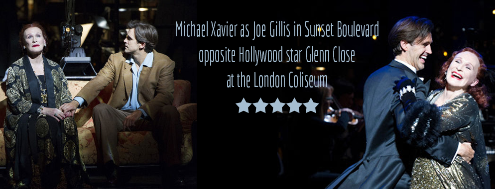 MICHAEL STARS WITH GLENN CLOSE IN SUNSET BOULEVARD