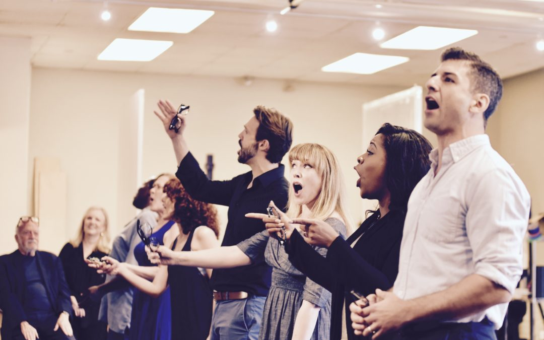 First images of Michael Xavier in Prince Of Broadway rehearsals